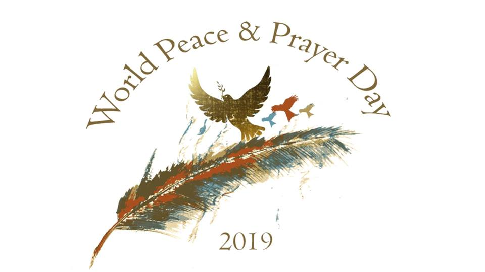 World Peace Prayer Day Feather Dove