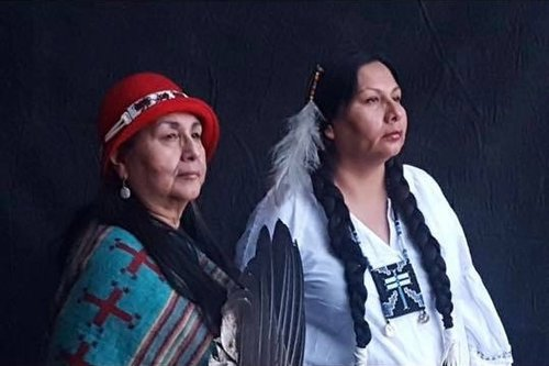 Melaine Stoneman (Wakinyan Ska Wi—White Lightning Women) is Sicangu Lakotas from Rosebud, South Dakota.