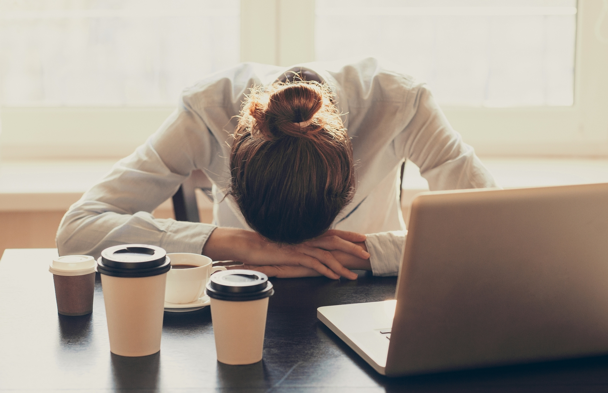 Stressed woman needing to get away