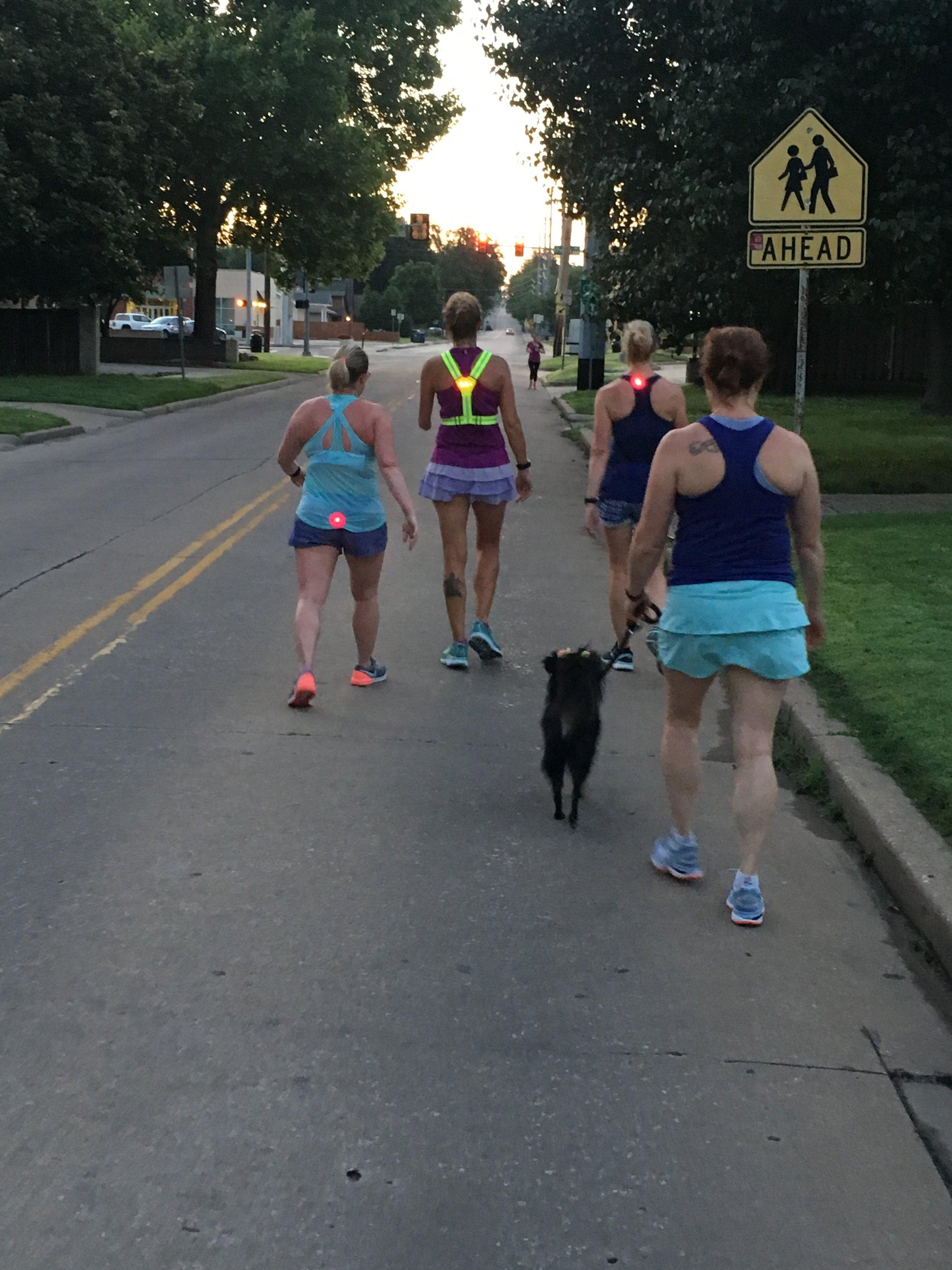 Taking a little walk break on a Saturday long run…..