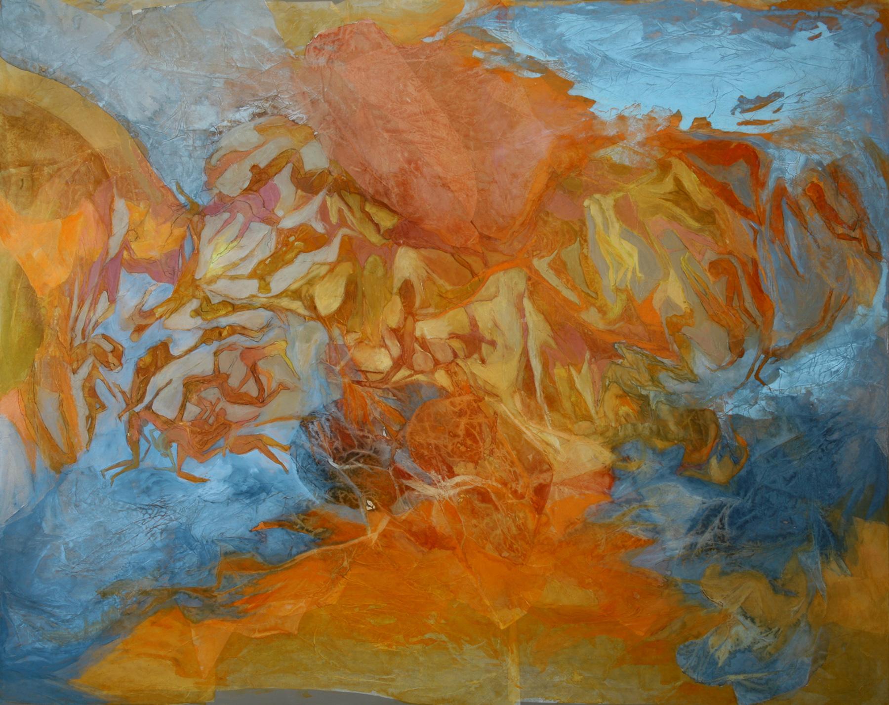 El mar sin océano, ni silencio - Técnica mixta sobre tela - 120 x 150 cm