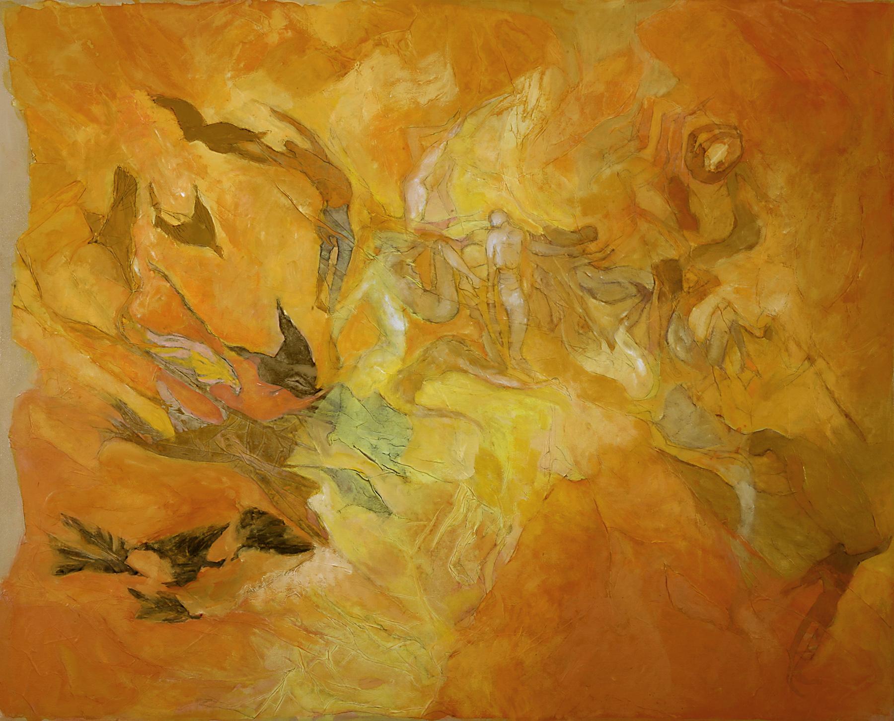 Como pájaros negros - Técnica mixta sobre tela - 100 x 81 cm