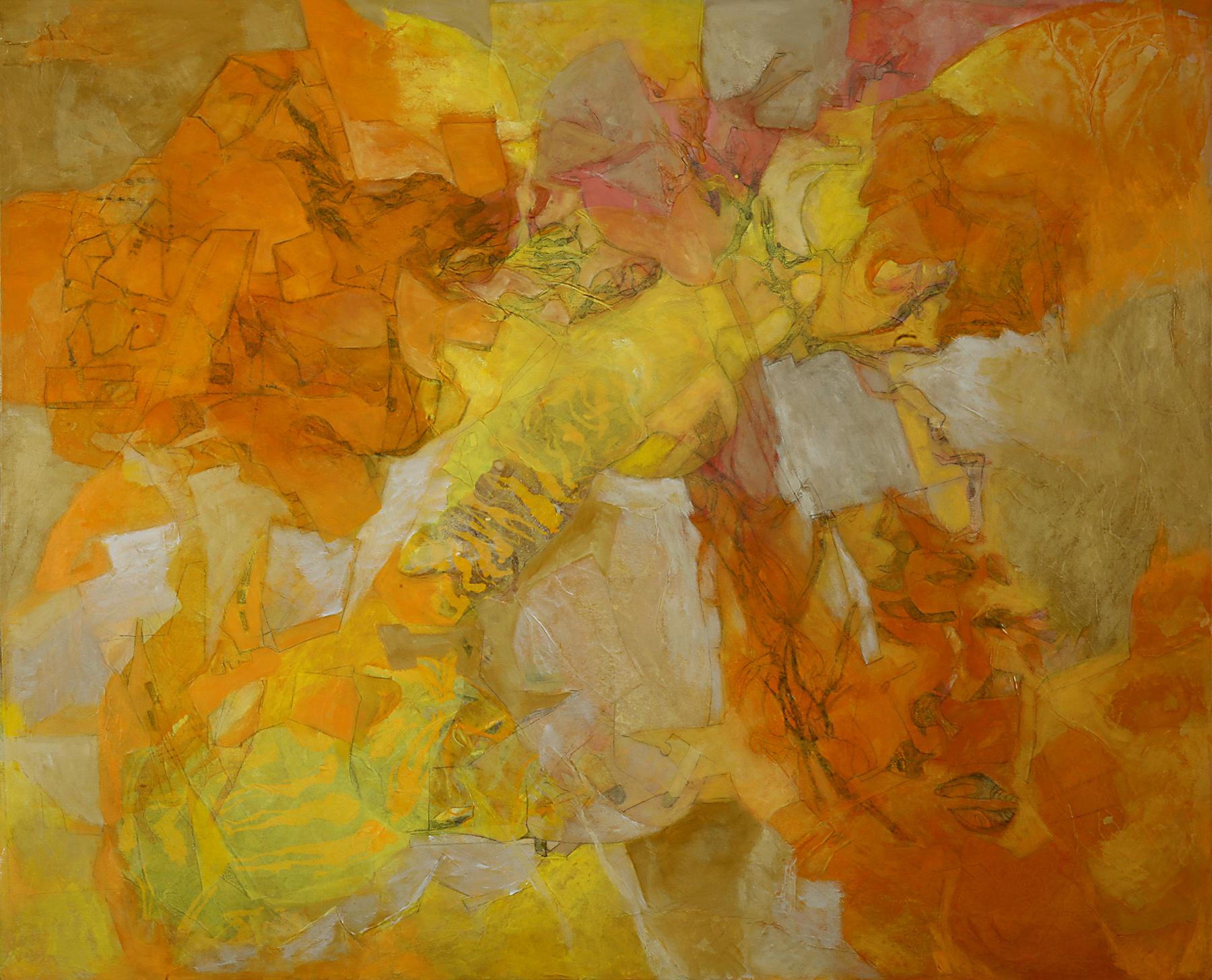 Meandros del sueño - Técnica mixta sobre tela - 100 x 81 cm