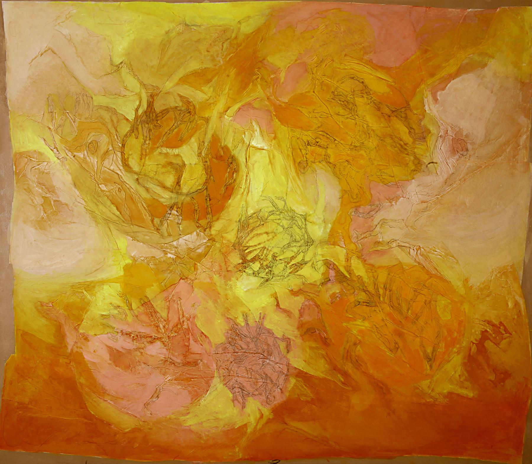 En el límite de lo expresable - Técnica mixta sobre tela - 100 x 116 cm