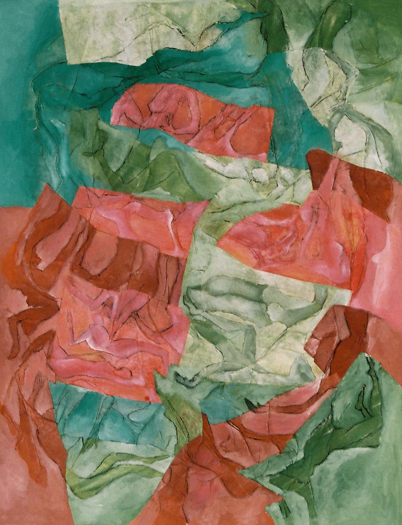 Permanencia y repetición - Óleo sobre papel - 65 x 50 cm