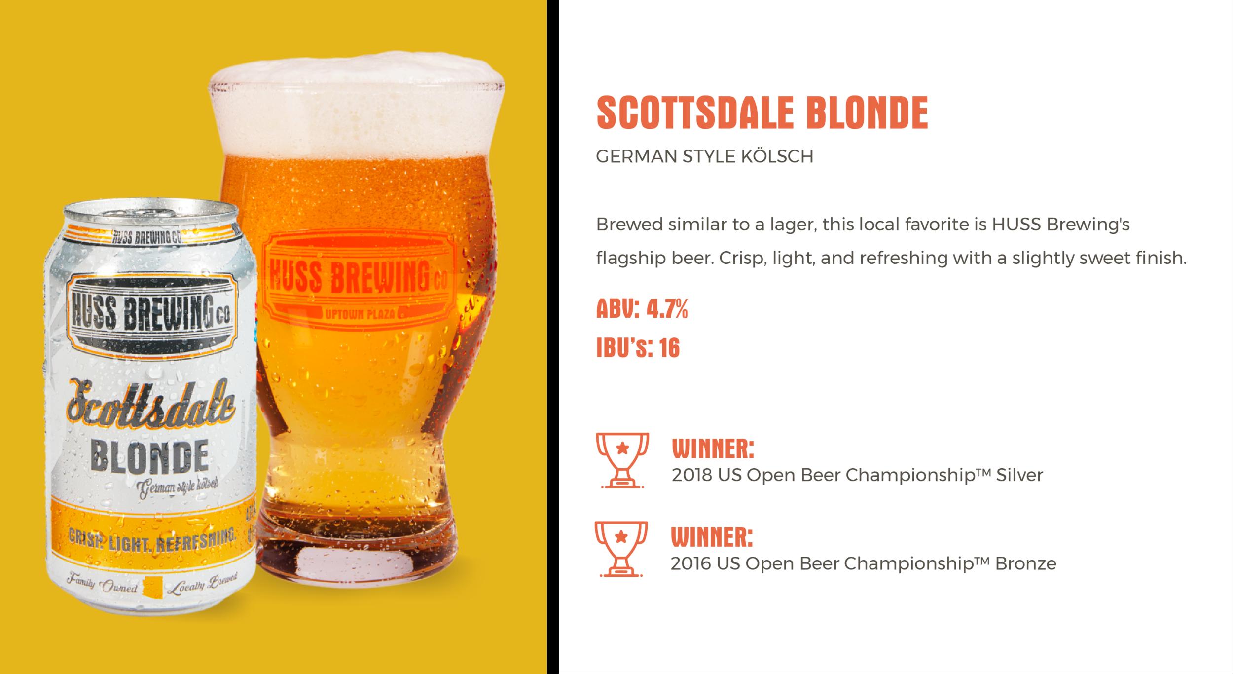Huss Brewing Co Scottsdale Blonde