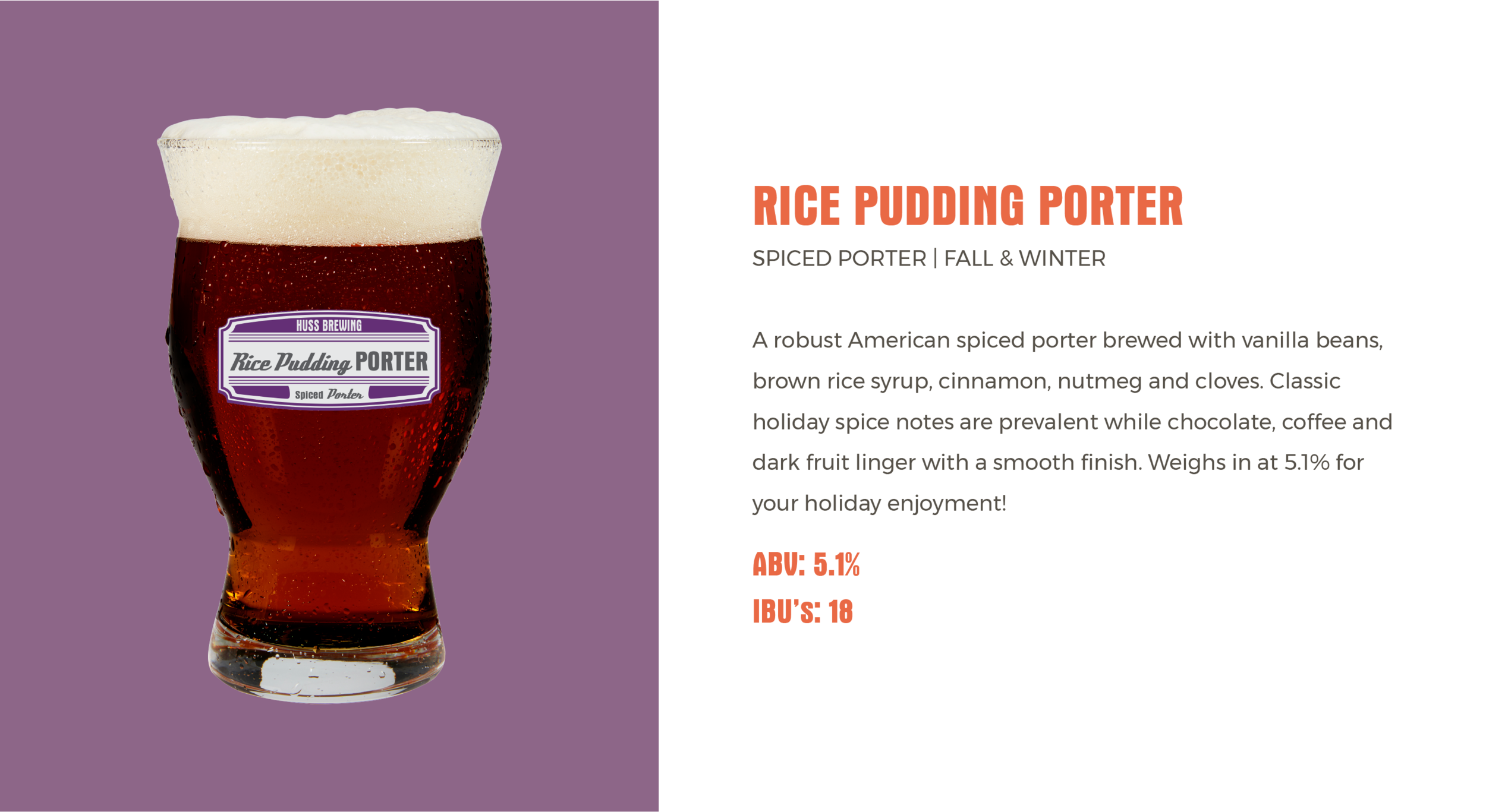 Huss Brewing Co Rice Pudding Porter
