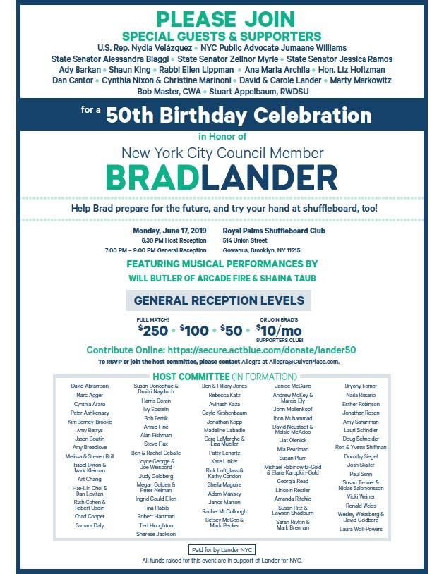 Brad Birthday — Brad Lander for NYC