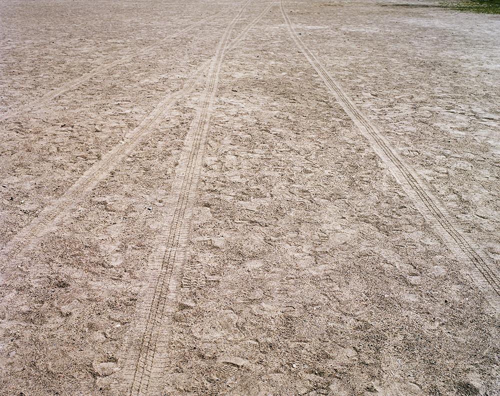 "59. Untitled (tire tracks, Clinton Prison). Inkjet print. 20"" X 16"". 2013."