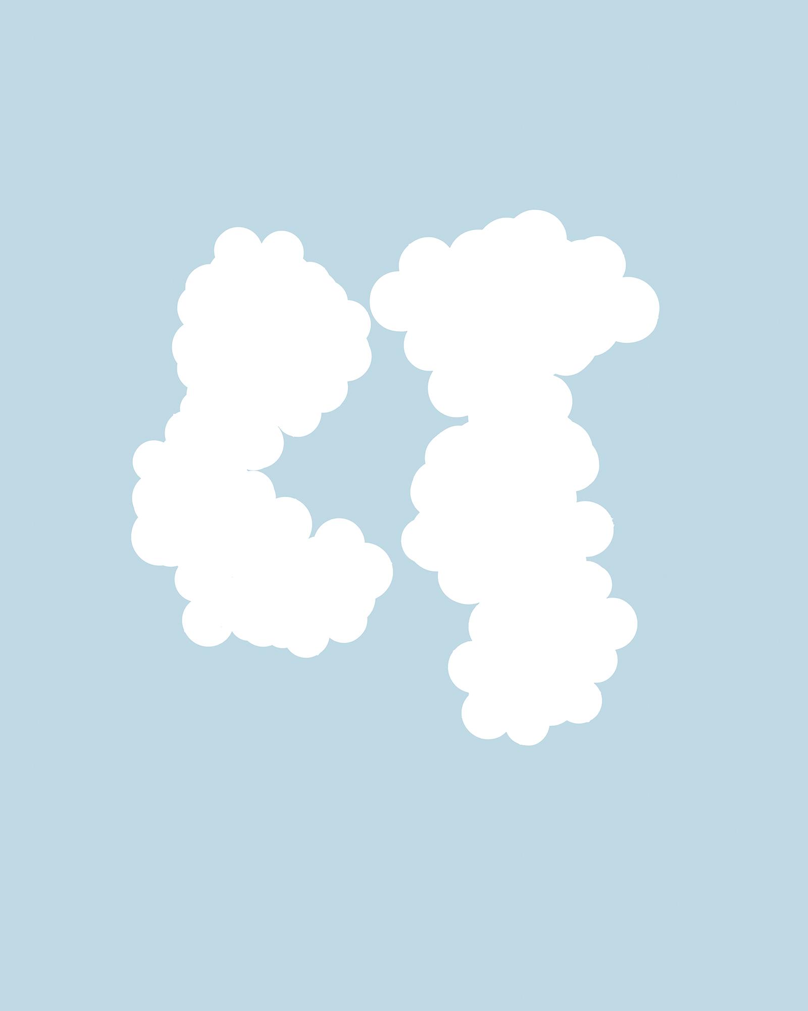16. Untitled (gray cluster 34&24&33 v2). 2018. Inkjet print on mulberry paper.