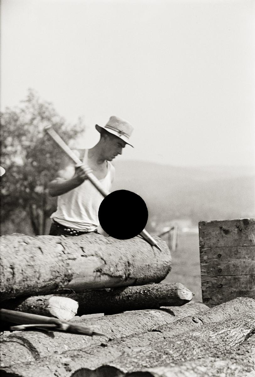 65. Lumber mill worker, Lowell, VT. 1937. Arthur Rothstein. 8a08793.