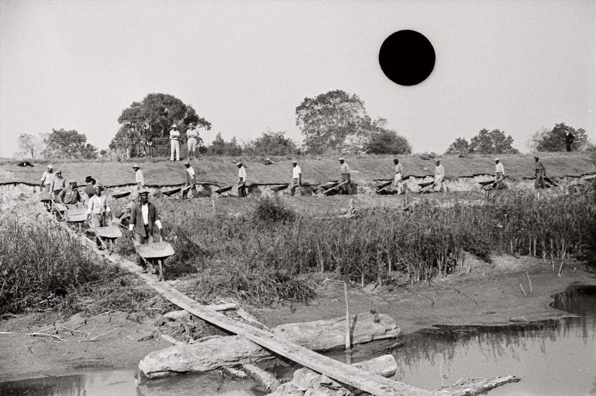 78. Levee workers, Plaquemines Parish, Louisiana.1935. Ben Shahn. 8a16572.