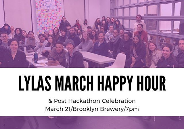We're a week out from our #lylas March happy hour celebration of #lylaslabs and #opendataweek! Join us on the 21st at @brooklynbrewery by sending an RSVP through loveyalikeasis.com/events