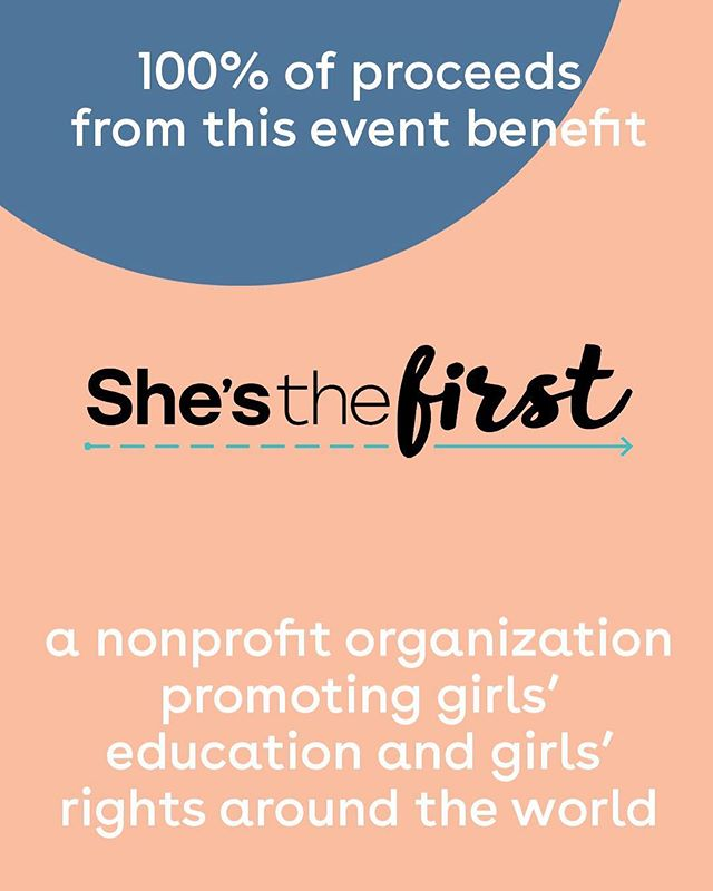 Did we mention all proceeds to our April 16th event go to @shesthefirst? They are doing amazing work around the world, and you'll get to meet with them in our own backyard, @showfields_nyc. Get your $10 ticket with the link in our bio ASAP! #lylas ❤️❤️❤️