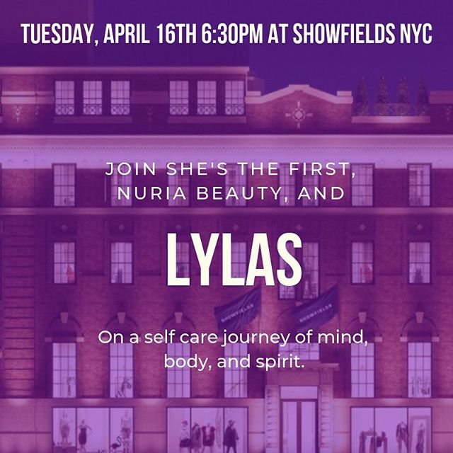 🚨 EVENT ALERT! 🚨  Join us, @shesthefirst, and @nuriabeauty TOMORROW at @showfields_nyc for a much needed night of #selfcare with @kerri.lowe! Can't wait to see you all there 🥰 link in bio #lylas