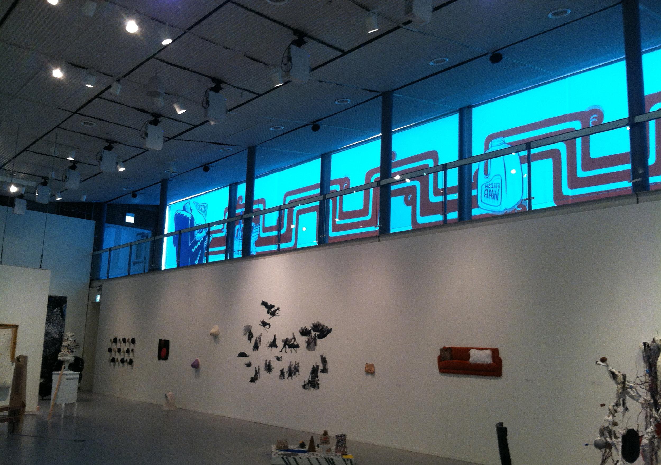 Patriotic Vomit   Interior of gallery of HPAC