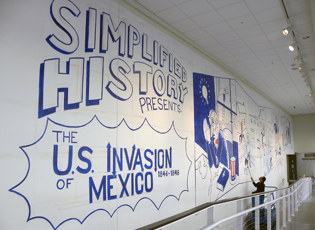 The Condensed History of the U.S. Invasion of Mexico   W95' x H22' Lead muralist. Acrylic mural. Urban Institute Contemporary Art, Grand Rapids, MI. 2013