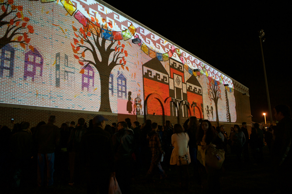 Dia de los Muertos Xicago   ...and a 152ft wide animation collaboration with Mark Anderson, Luis Mayorga and myself.