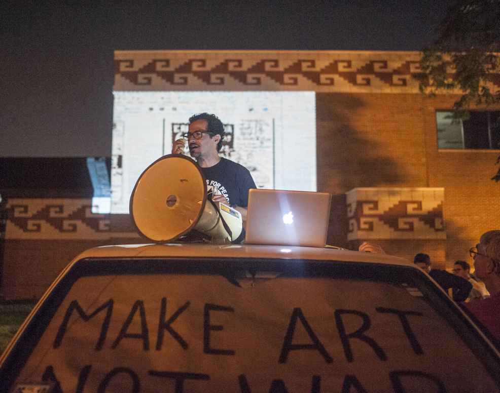 60 in 60   Discussing politics from the bed of my truck. Photos by William Carmargo