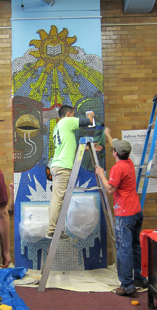 Two Histories, One School    Grouting