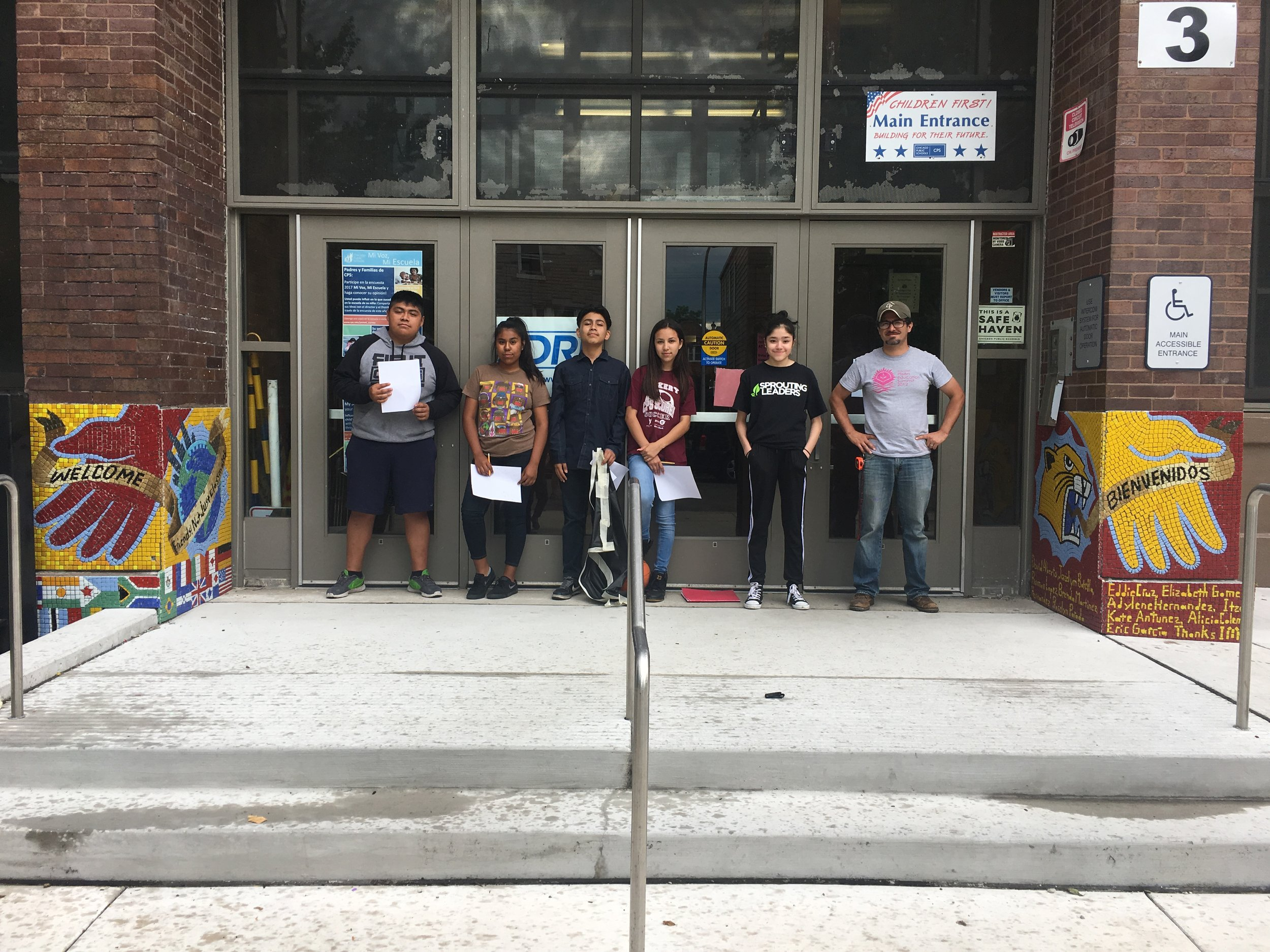 Bienvinidos    Mosaic mural. Corkery Elementary School. In conjunction with the National Museum of Mexican Art. Chicago, IL, 2017