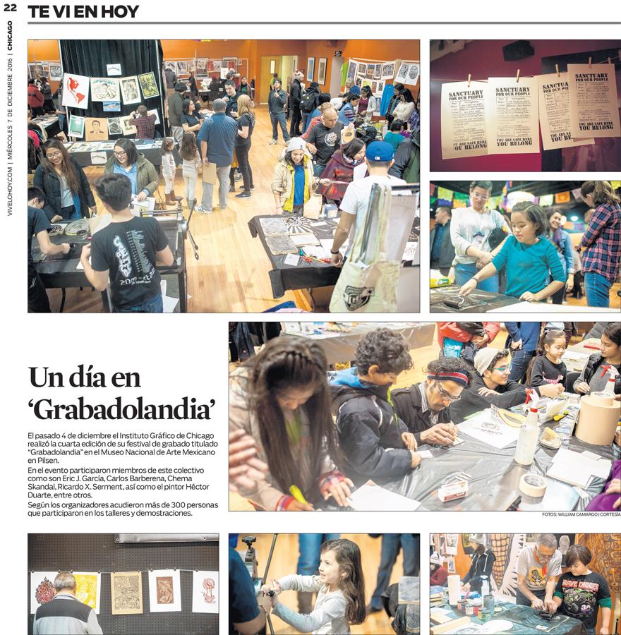 Grabadolandia   Instituto Grafico de Chicago's free annual print making fair.