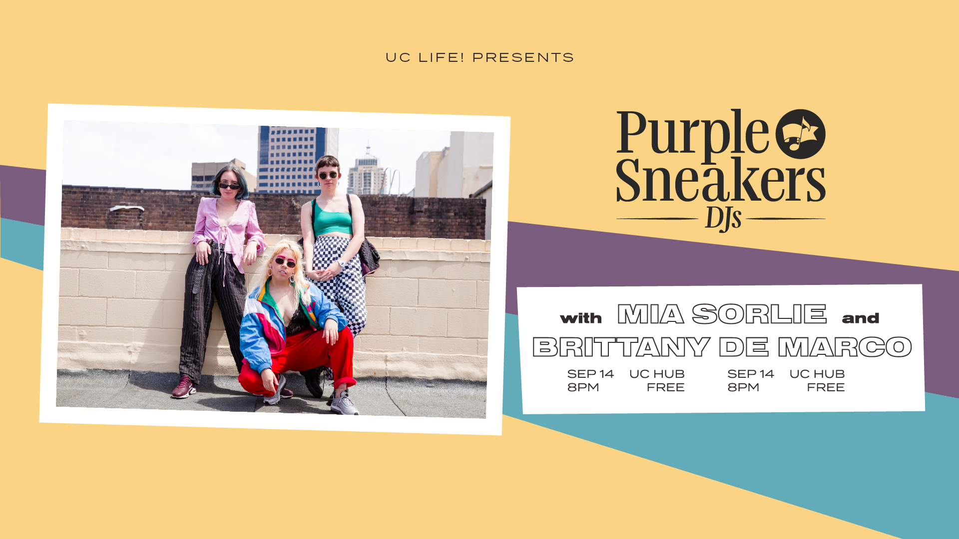 Purple Sneakers DJs on Friday 14 September is also Free Entry