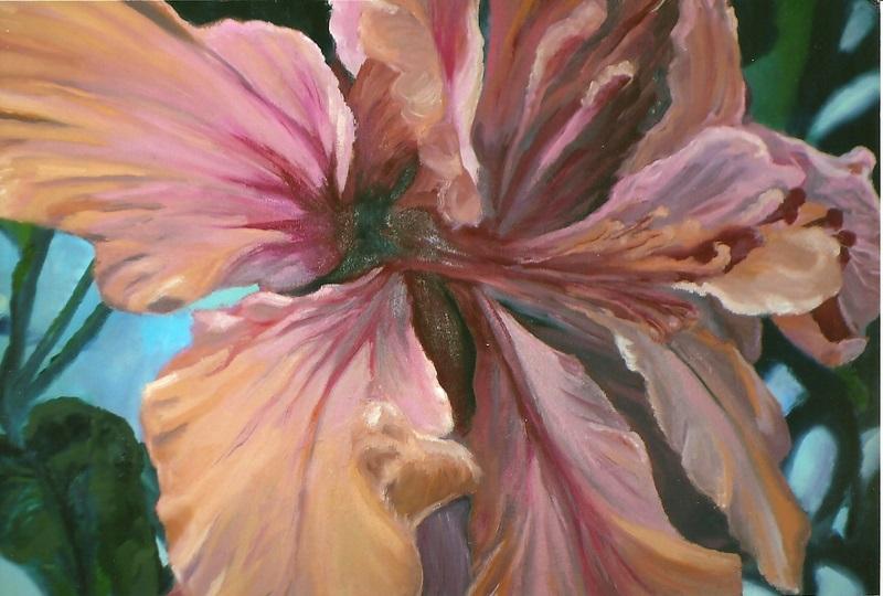 Twisted Hibiscus   Oil     22h  x  27w-001.jpg