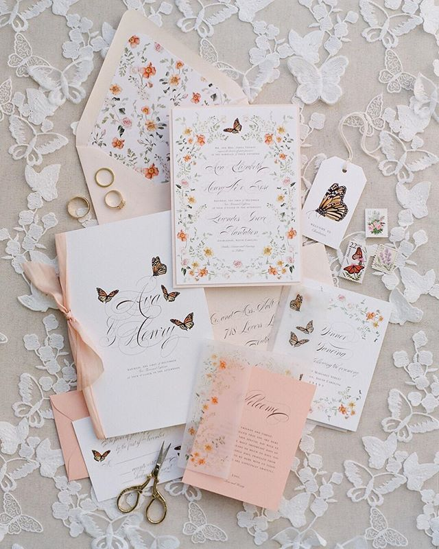 Our hearts were aflutter for this #invitationsuite by @emilymaynestudio ! 💓The butterfly accents were everything @thehappybloom and I had ever dreamed of. 🦋 The perfect addition to this garden inspired shoot at @pphgevents Lowndes Grove last fall. 👌🏼 . . . . . . . Designer + Coordinator: @thepetalreport | Photographer: @thehappybloom | Venue: Lowndes Grove of @pphgevents | Paper Goods: @emilymaynestudio | Welcome Gift: @asignaturewelcome | Dress Designer: @emilykotarskibridal | Hair + Makeup: @pamperedandprettyxo | Florist: @grayharperflorals | Rentals: @oohevents | Linens: @latavolalinen | Bride + Groom: @elliot_ehlen + @mollymiche | Suits: @charlestontuxedo | Bridesmaids' Attire: @anthropologie | Shoes: @bellabelleshoes | Rings: @croghans | Bow Ties: @kateroseco | Vintage Chairs: @428main