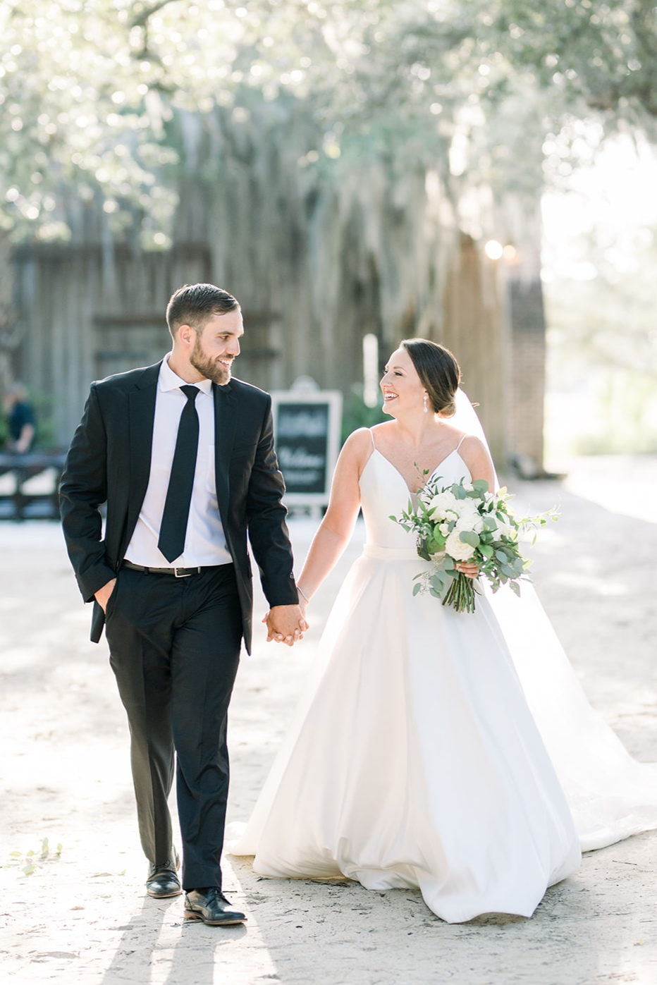 Brittany & Kyle at Boone Hall Plantation on July 20th, 2019. Photo by Audrey Rose Photography