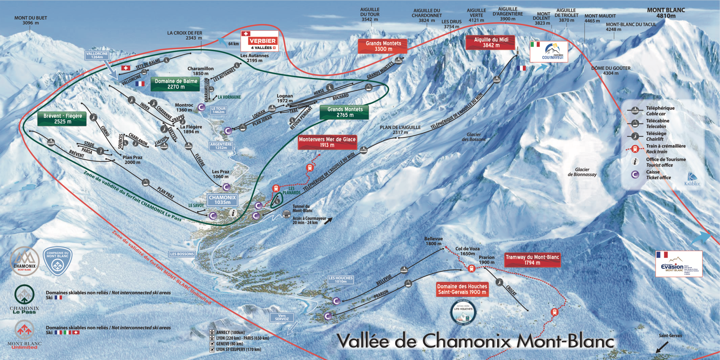 SKII MAPS - Skiing in Chamonix ValleyThe Chamonix Valley is 16km's long, made up of five major ski stations. The valley has an excellent snow record with 90% of the ski area above 2000m, making it one of the most snow sure resorts in Europe. With over 150km's of patrolled ski runs, limitless off piste opportunities including the infamous la Vallee Blanche and four dedicated nursery slopes for beginners, the Chamonix Valley offers a little something for everyone.For more information, please visit their website https://www.marmottemountain.com/local-info/winter-in-chamonix/