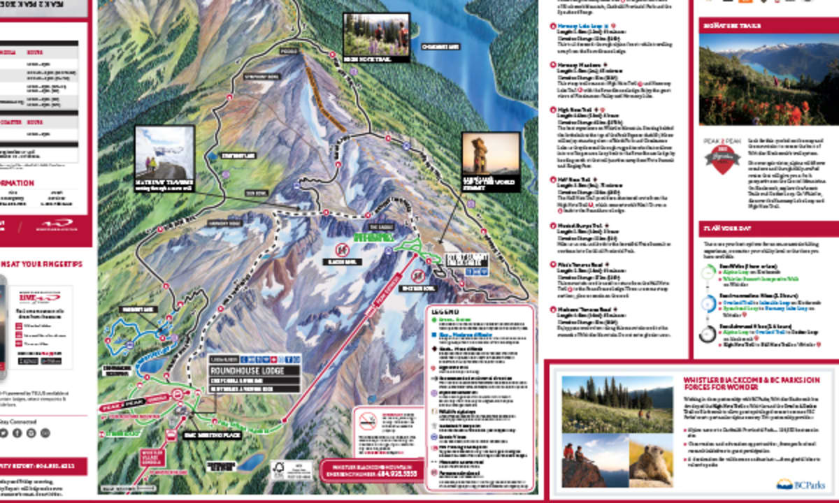 ALPINE HIKING TRAIL MAP