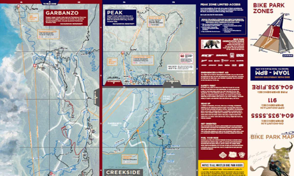BIKE PARK TRAIL MAPS