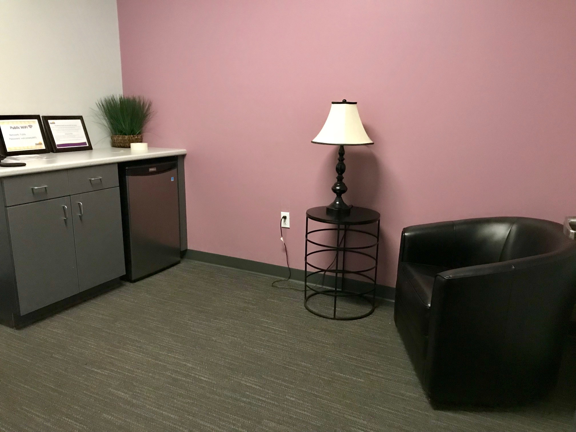 Self-Care - A low sensory self-care room is available for attendees who may need time away from a meeting or a brief sensory break.
