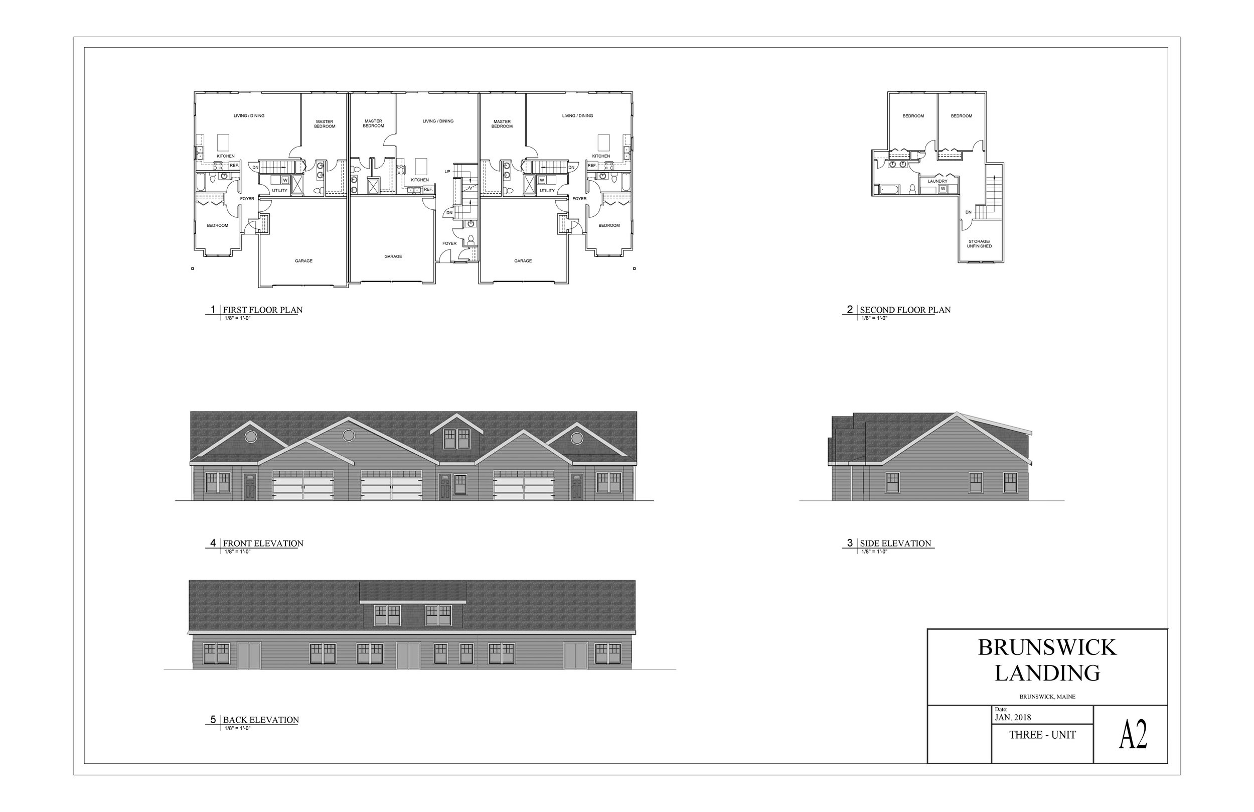 Brunswick Landing Condos 3 Unit Plan