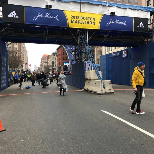 2018 Boston Marathon Finish Line