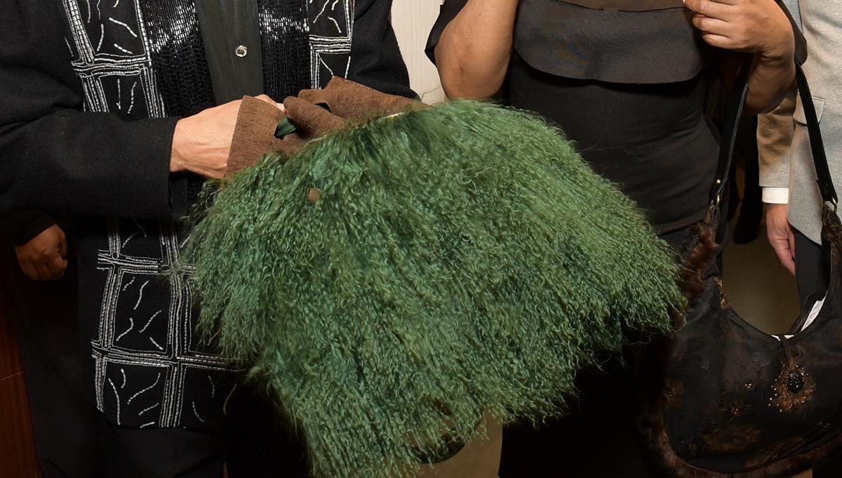 Re-Fur-Bished handbag.