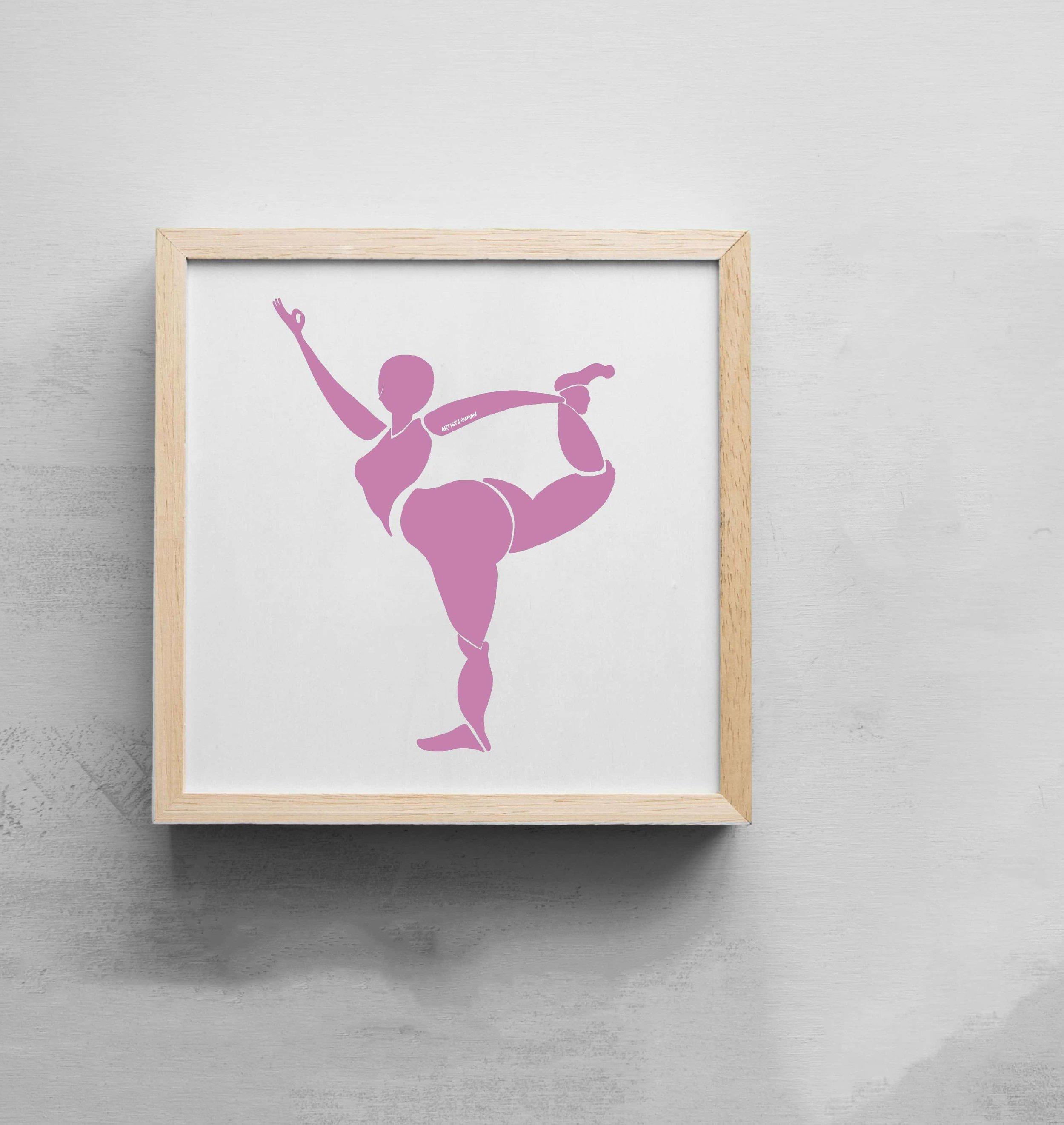 Natarajasana - Shiva Dance Pose | Art Print