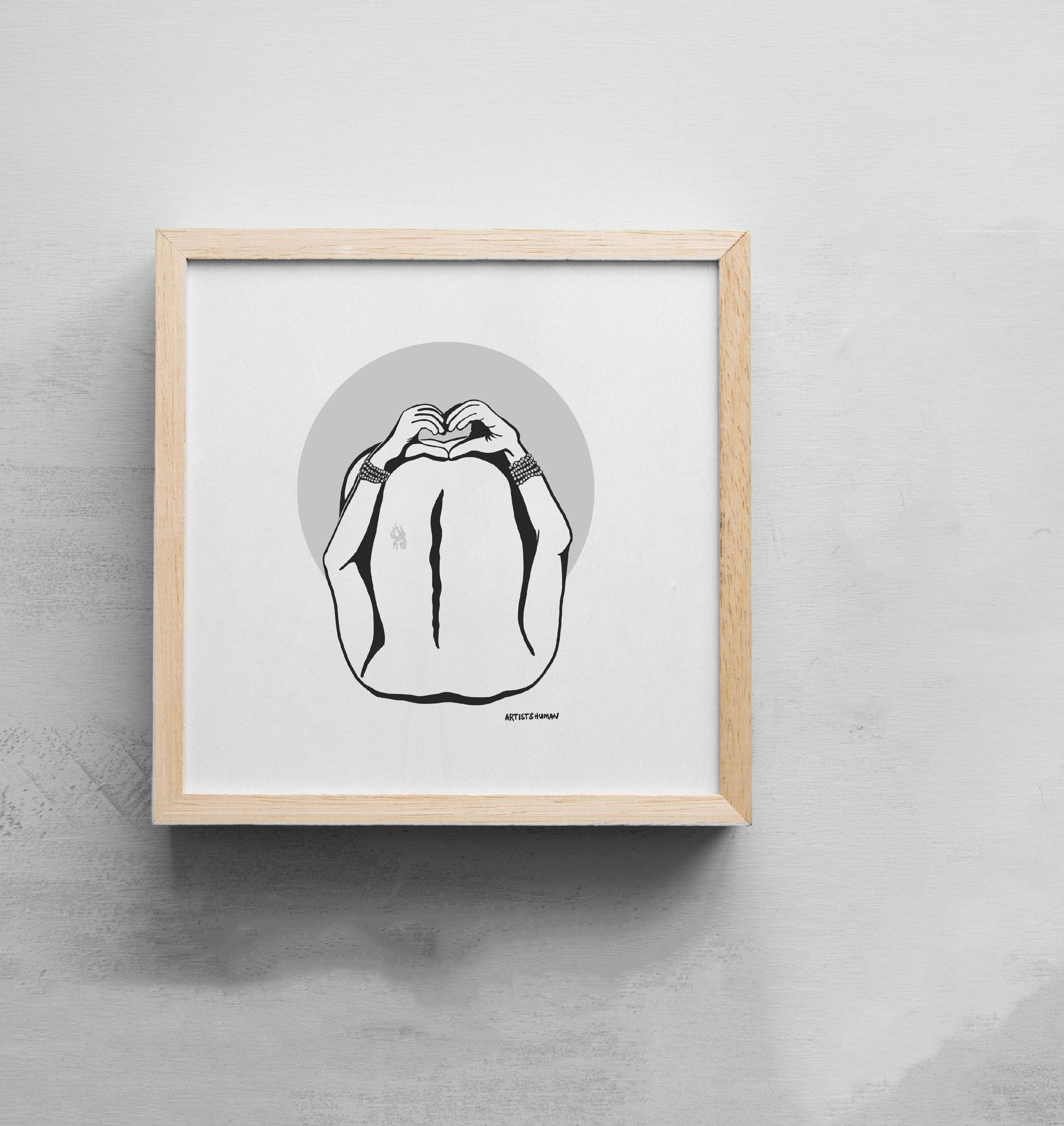 Creature Yogi III | Art Print