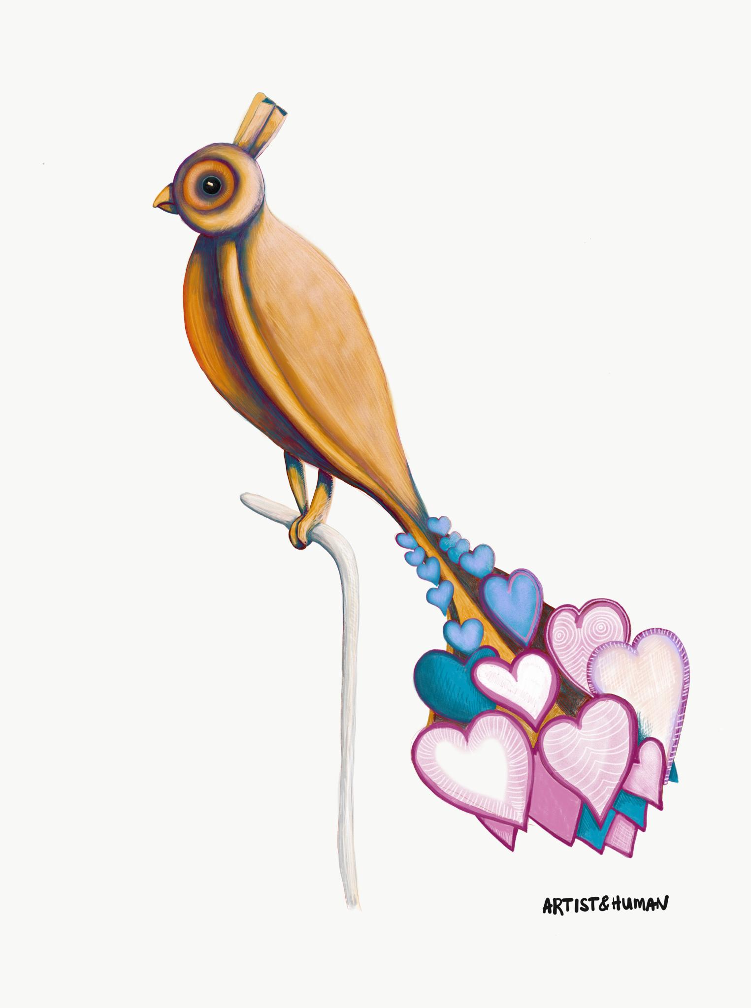 Byron Bay Love Bird I - Print