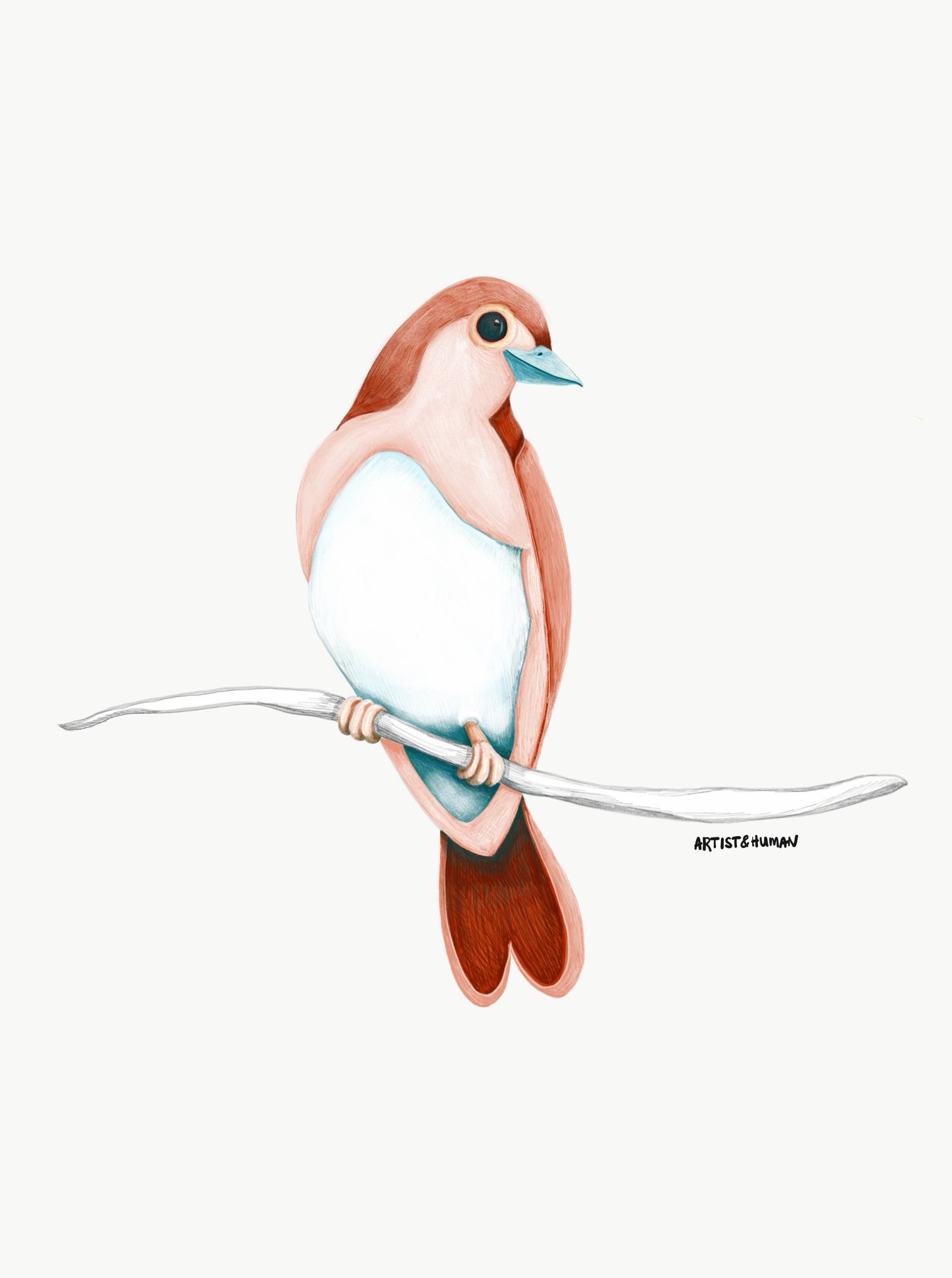 Byron Bay Love Bird III - Print