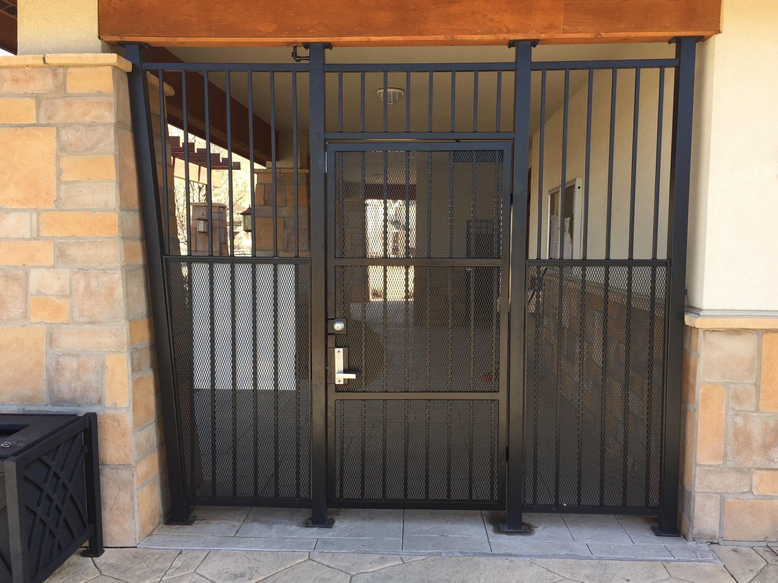 Custom ornamental metal security gate