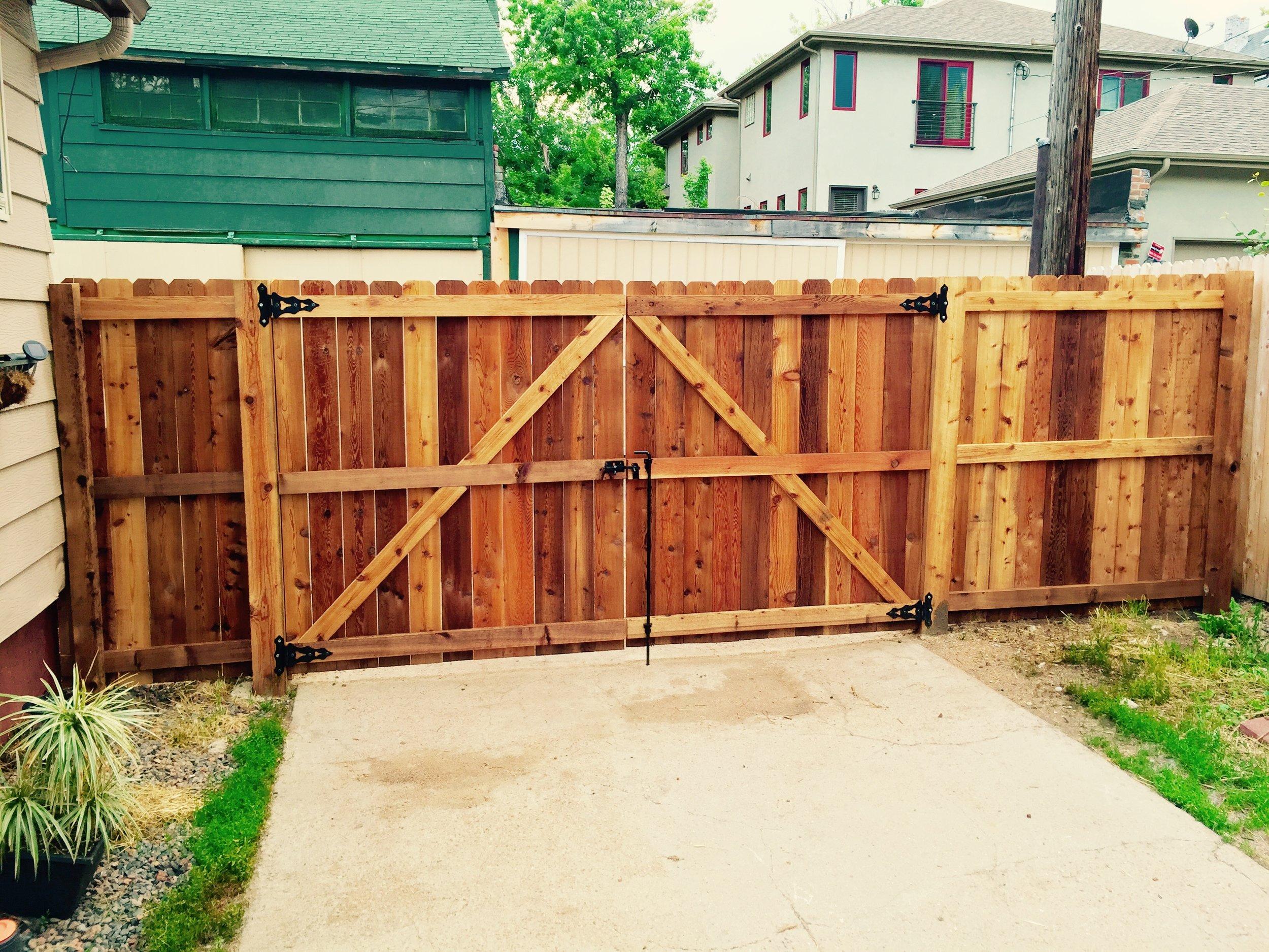 Residential double swing gate - cedar