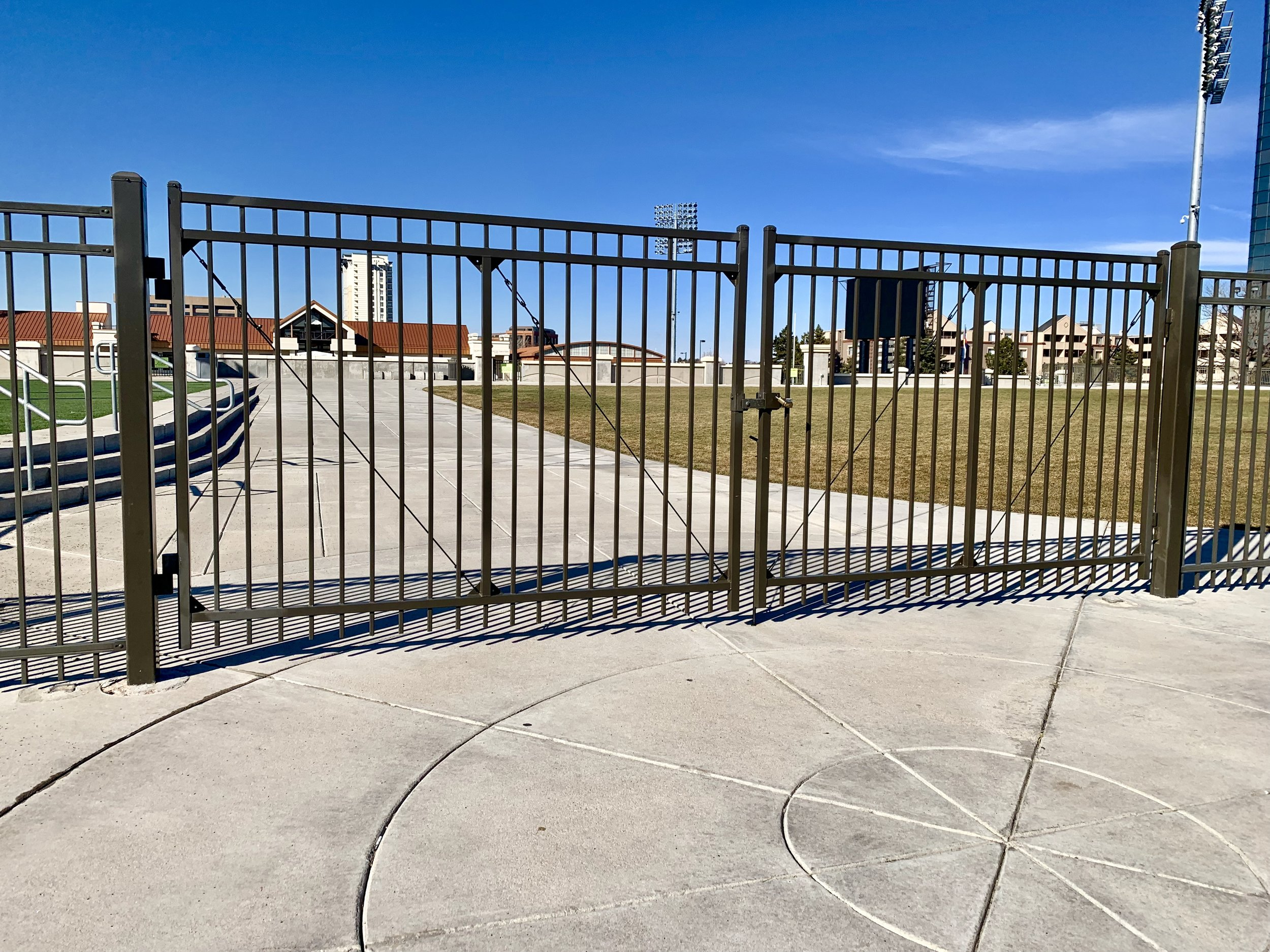 Metal Fence System - Double Gate