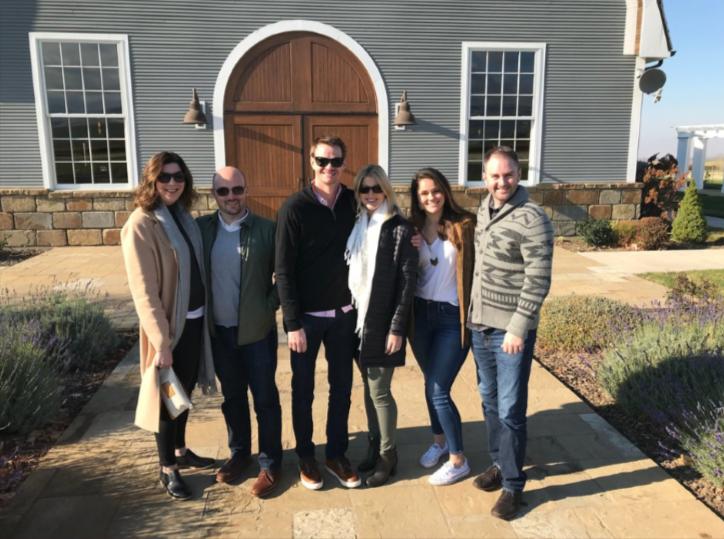 Wine tour group at Garrison Creek Cellard in Walla Walla