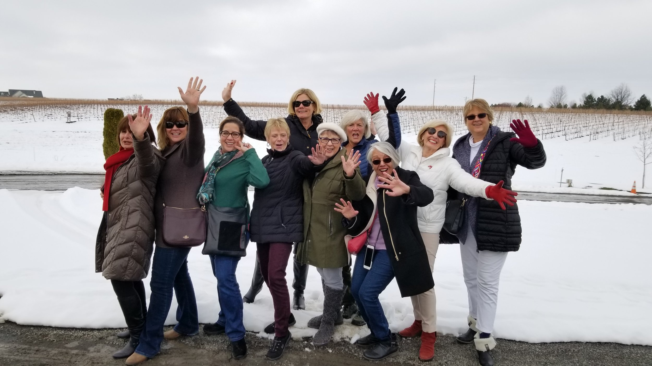 Ladies wine tour in Walla Walla during the winter