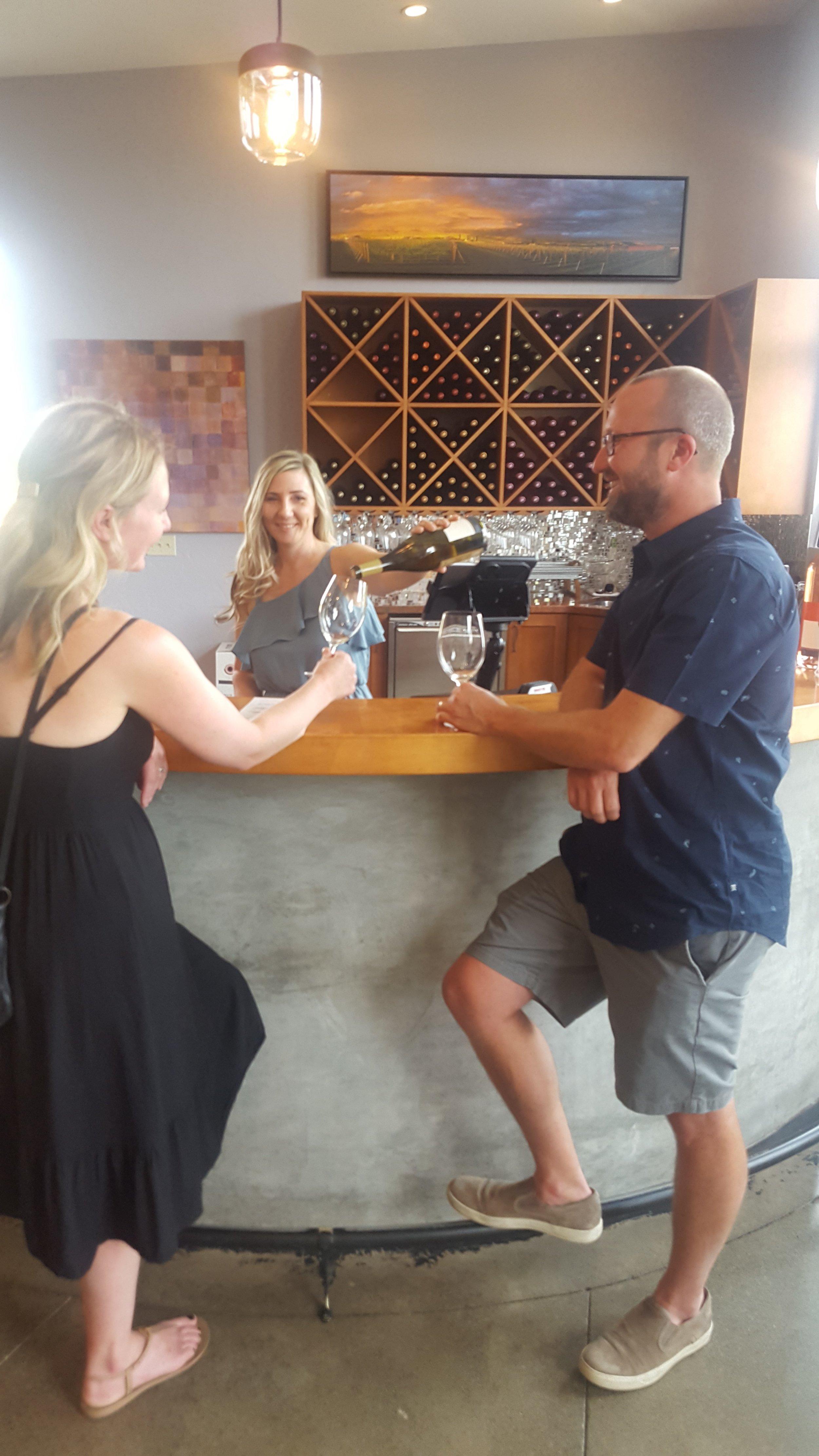 Private wine tasting at Tertulia Cellars in Walla Walla