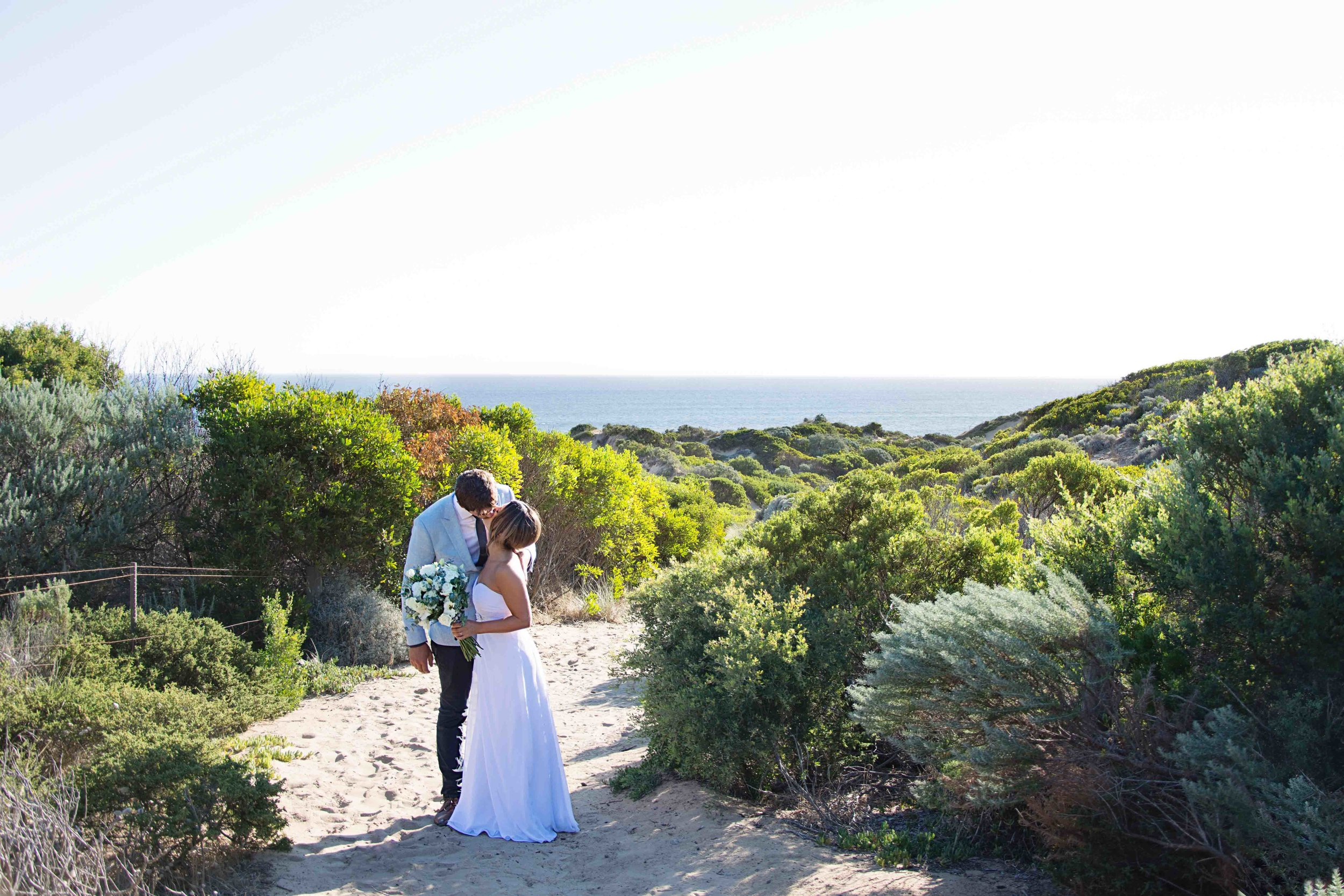 Carmela and Mark found this beautiful beach spot that was only a few minutes drive from their venue.
