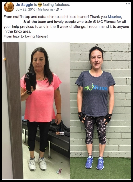 """""""From Lazy to loving fitness!"""" - JO SAGGIN"""