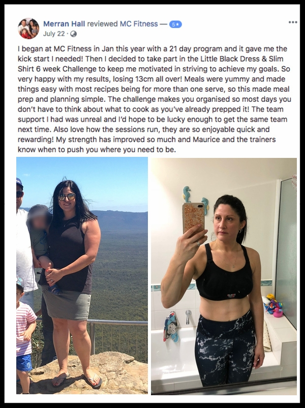 """""""So very happy with my results… the team support I had was so unreal"""" - MERRAN HALL"""